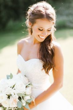 Molly Jo Collection, Wisconsin, Midwest and Travel / Destination Wedding Photographer., Classic  Bridal portrait with white bouquet. Timeless and romantic wedding inspiration.