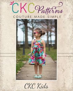 CREATE KIDS COUTURE - Pansy girls (pockets top and sundress) 2a 14a