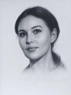 Portrait Monica Bellucci by Drawing-Portraits on deviantART
