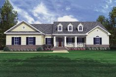 Houseplans.com Traditional Front Elevation Plan #21-135