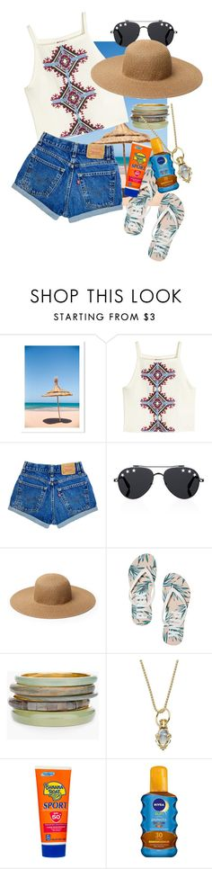 """beach style"" by kimyoana ❤ liked on Polyvore featuring H&M, Givenchy, Chloe + Isabel, Chico's, Temple St. Clair, Banana Boat and Nivea"