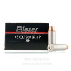 CCI 45 Long Colt Ammo - 50 Rounds of 200 Grain JHP Ammunition #45LongColt #45LongColtAmmo #CCI #CCIAmmo #CCI45LongColt #JHP #BlazerAmmo