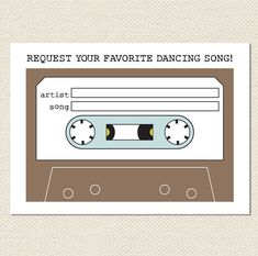 Wedding Song Request Mixtape Card // Instant by tonideweese