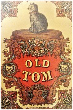 Vintage Old Tom Gin advertising poster
