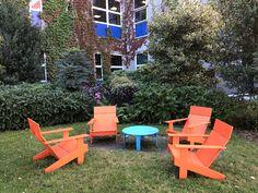 UWE courtyards by Upcircle Design Studio Sustainable Loll design furniture Design Studio London, Slow Design, Design Movements, Circular Economy, Graphic Design Studios, Outdoor Furniture Sets, Outdoor Decor, Courtyards, Sustainable Design