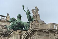 Budapest Bug Hungary, Fresco, Budapest, Statue Of Liberty, Museum, Building, Travel, Life, Design