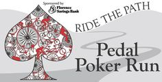 Pedal Poker Run - great logo! Poker Run, Obstacle Course Races, Savings Bank, Great Logos, Racing, Decorating, Party, Safe Room, Running
