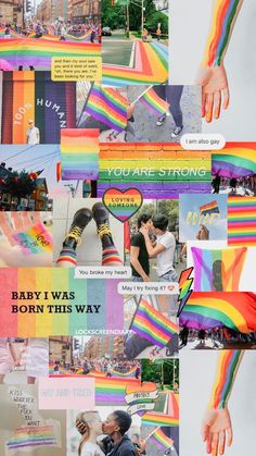 New Ideas for simple aesthetic wallpaper love Rainbow Wallpaper, Mood Wallpaper, Aesthetic Pastel Wallpaper, Wallpaper Iphone Cute, Wallpaper Quotes, Aesthetic Wallpapers, Cute Wallpapers, Gay Aesthetic, Aesthetic Collage