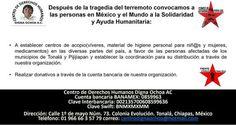 URGENTE: solidaridad y ayuda humanitaria a damnificados de la Costa de Chiapas