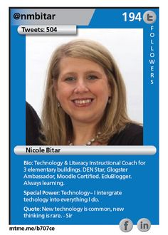 Technology & Literacy Instructional Coach for 3 elementary buildings. DEN Star, Glogster Ambassador, Moodle Certified. EduBlogger. Always learning.