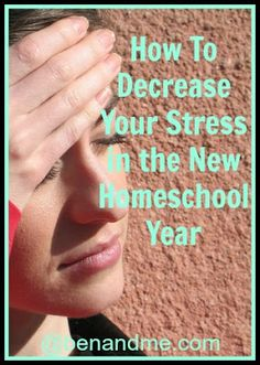 Decreasing stress at the start of your school year...