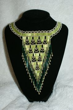 Very pretty! Large Elegant Seed Beaded Native American Style by SeedBeadVisions, $225.00