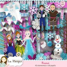 Kit Digital Frozen by Lu Ifanger - R$13,00 : Boutique do Scrap