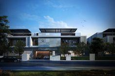 Architecture Building Design, Modern Architecture House, Facade Design, Residential Architecture, Exterior Design, House Front Design, Modern House Design, Contemporary Design, Architect Design House