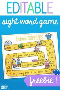Sight word games tha