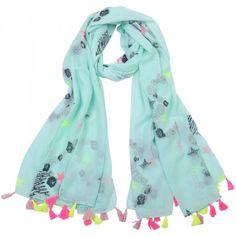 http://www.myinfini.com/a-44488871/fashion-accessoires/mint-groene-sjaal-met-sterren-print-en-neon-kwastjes/