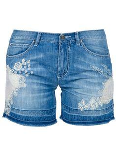 ERMANNO SCERVINO Shorts Jeans Azul.