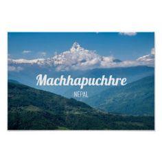 Machhapuchhre, Fishtail Mountain, Nepal Photo Sacred Mountain, Nepal Trekking, Republic Of Ireland, Landscape Prints, Custom Posters, Holiday Photos, Fishtail, Photographic Prints, Custom Framing