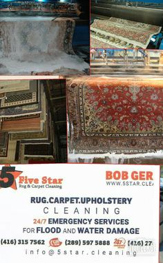 5 Star Cleaning offers Top Quality Green cleaning and Restoration Services on water damage, Mold remediation, Rug, Carpet and Upholstery Cleaning including Rug Repair, Carpet Stretching, Stain and odor removal, Scotch Guarding both in commercial and residential areas in GTA
