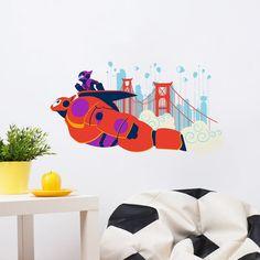 Big Hero 6 Robot Baymax and Hiro Hamada Wall Stickers - Baymax Wall Decals - Wall Stickers - Home Decor