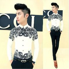 Cheap Casual Shirts, Buy Directly from China Suppliers: NOTE: All Men's Clothes and Pants are Asian Size, Not US/Europe Mens Black Tops, Green Polo Shirts, Stylish Boys, Paisley Dress, Paisley Pattern, Wedding Men, Casual Shirts, Nice Dresses, Menswear