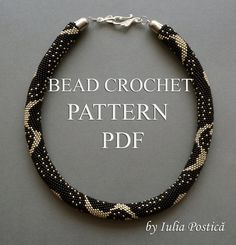 This listing is for the pattern of Silver Rain bead crochet necklace. By purchasing this pattern you will learn how to create yourself this