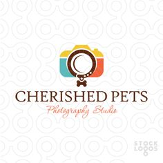 Logo for sale: Creative logo design of a camera. The Lens of the camera is designed to resemble a pets collar.