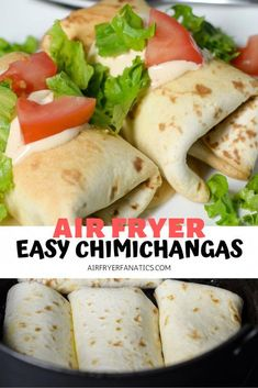 Make the best Air Fryer Chimichangas right at home for dinner paired with some c. - Air Fryer Dinner Recipes - Make the best Air Fryer Chimichangas right at home for dinner paired with some cilantro rice, making - Air Fryer Recipes Vegetarian, Air Fryer Oven Recipes, Air Fryer Dinner Recipes, Beef Recipes, Mexican Food Recipes, Chicken Recipes, Cooking Recipes, Easy Recipes, Cooking Tips