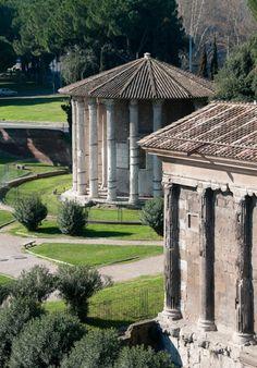 Stroll the ancient Forum Boarium, with its graceful Republic-era temples, at Piazza della Bocca della Verita.
