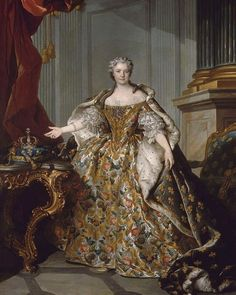 Marie Leczinska (1703-1768), was a Polish princess and Queen consort of France from 1725 until 1768 by marriage to Louis XV. The daughter of King Stanislaus I of Poland and Catherine Opalińska, her 42-year service was the longest of any queen in French history. Jean Antoine Watteau, French Royalty, Court Dresses, Portraits, Marie Antoinette, Historical Clothing, Fashion History, Belle Photo, Costume Design
