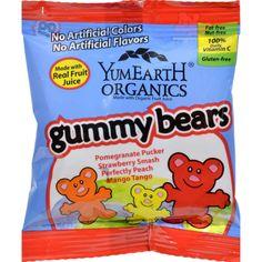 Yummy Earth Organic Gummy Bears - Case Of 24 - .9 Oz