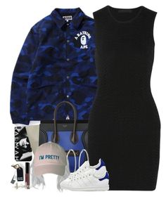 """Why so blue?"" by oh-aurora ❤ liked on Polyvore featuring Alexander Wang, Roberta Chiarella, adidas, Bobbi Brown Cosmetics and Alexander McQueen"