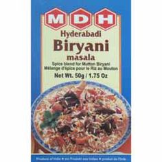 Buy Hyderabadi Biryani Masala online from Spices of India - The UK's leading Indian Grocer. Free delivery on Hyderabadi Biryani Masala - MDH (conditions apply). Spice Blends, Biryani, Fries, Oatmeal, How To Apply, Stuffed Peppers, Indian, Vegetables, Cooking