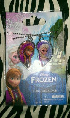 Disney Frozen Elsa Anna Sisters Best Friend  Heart Friend 2pcs Necklace Jewelry #Disney #Heart