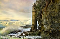 Beautiful remains of a tower at Victoria Beach -- less than 5 minutes from my house!