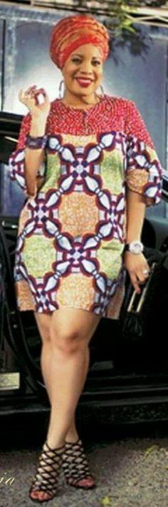Monalisa Chinda wearing an Ankara dress