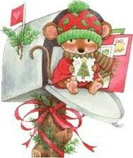 Christmas mouse has mail.