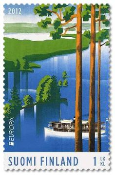 Saimaa Loveliest in Finland - Vintage Travel Poster. Full size reprint of a vintage Finnish travel poster. Finland Travel, Retro Poster, Wall Decor Stickers, Vintage Travel Posters, Stamp Collecting, Vintage Walls, Destinations, Poster Prints, 1