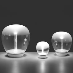 EMPATIA Handblown Murano Modern Glass LED Table Lamp by Artemide Lighting