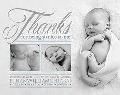 Gracias por ser impresionantes  nacimiento anuncio foto