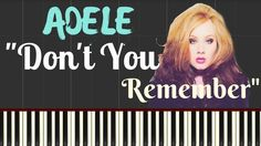 Adele - Don't You Remember Lyrics | Adele Piano Lesson | Synthesia Piano...
