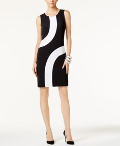 INC International Concepts Colorblocked Sheath Dress, Only at Macy's | macys.com