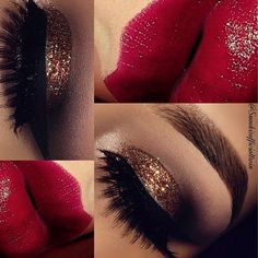 In L❤️ve with this Glittery Makeup Look