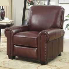 AT HOME DESIGNS Top Grain Leather Recliner & Barcalounger Charleston Recliner - Burgundy - 74030346525 ... islam-shia.org