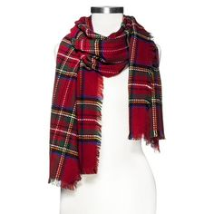 Multicolored Oversized Plaid Scarf - Red Plaid is in, get this scarf from target!