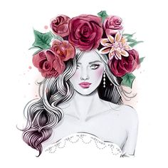 6 Easy DIY Floral Crown Hairstyles ❤ liked on Polyvore featuring backgrounds, sketches, art, drawings, fillers, text, phrase, quotes and saying