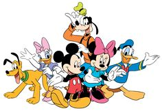 Mickey Mouse Gang Clipart - Free Clipart