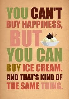 This is truth. Thank goodness Andy's is fat-free, calorie-free, and sugar-free, or I would be in trouble!