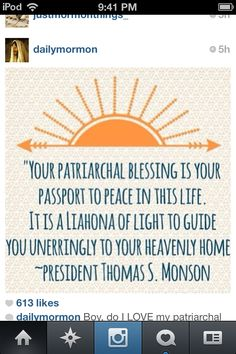 Patriarchal blessings #LDSmemes #FunnyLDS #LDSQuotes