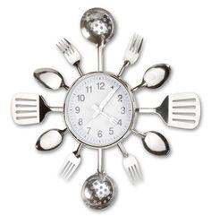 Kitchen Utensil Clock by Meridian Point - http://clocks.pinterestbuys.com/kitchen/kitchen-utensil-clock-by-meridian-point/